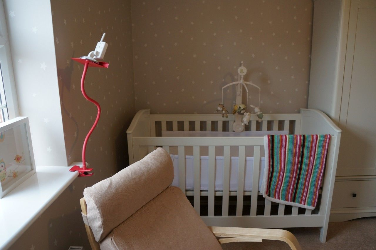 baby monitor holder universal baby monitor shelf mount for nursery. Black Bedroom Furniture Sets. Home Design Ideas